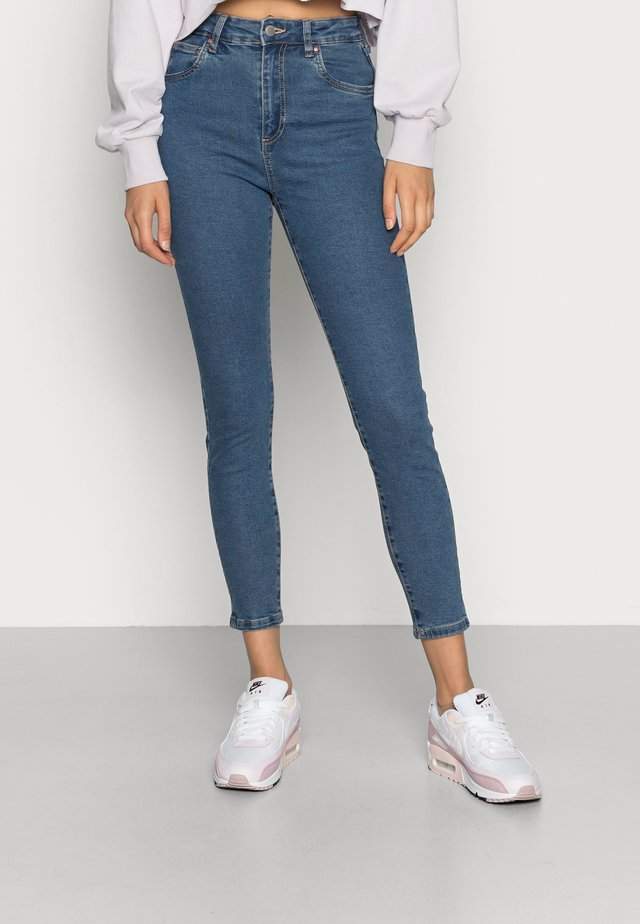 HIGH RISE CROPPED - Jeans Skinny Fit - true stone blue