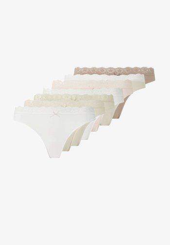 7 PACK - Thong - beige