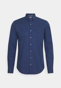 Calvin Klein Tailored - DOT EASY CARE SLIM SHIRT - Formal shirt - navy - 0