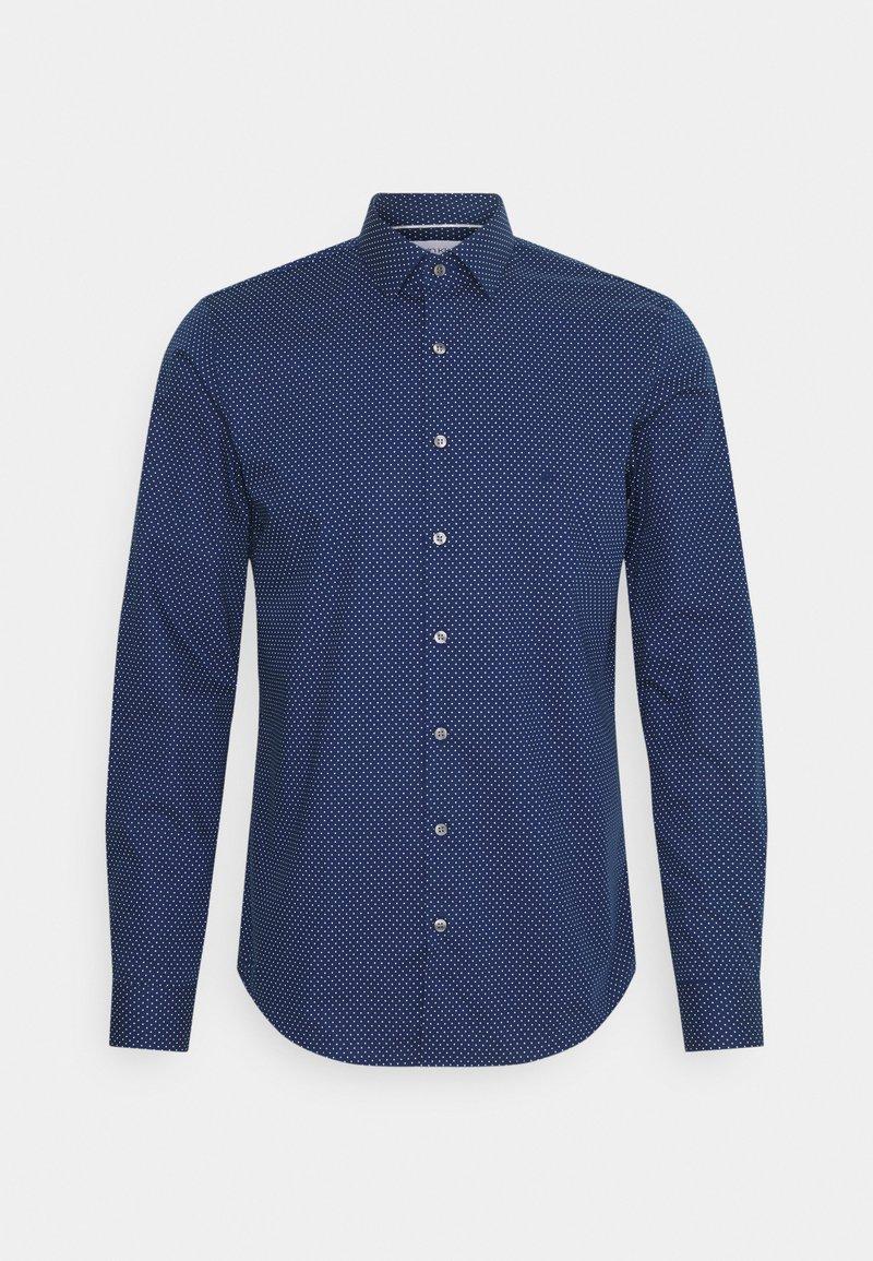 Calvin Klein Tailored - DOT EASY CARE SLIM SHIRT - Formal shirt - navy