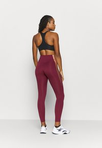 Nike Performance - ONE COLORBLOCK - Tights - dark beetroot/red bronze - 2