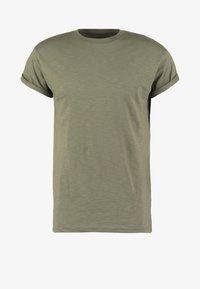 Topman - MUSCLE ROLLER - Jednoduché triko - khaki/olive - 4