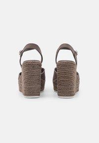 Calvin Klein Jeans - WEDGE ANKLE STRAP  - Platform sandals - dusty brown - 3