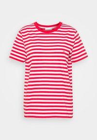 Calvin Klein - LOGO STRIPE - Print T-shirt - red glare/bright white - 0