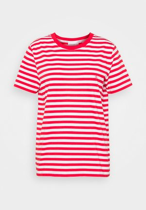 LOGO STRIPE - Print T-shirt - red glare/bright white