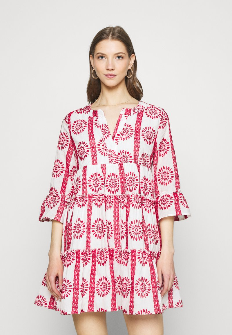 Colourful Rebel - INDY BRODERIE ANGLAISE BOHO DRESS - Day dress - white