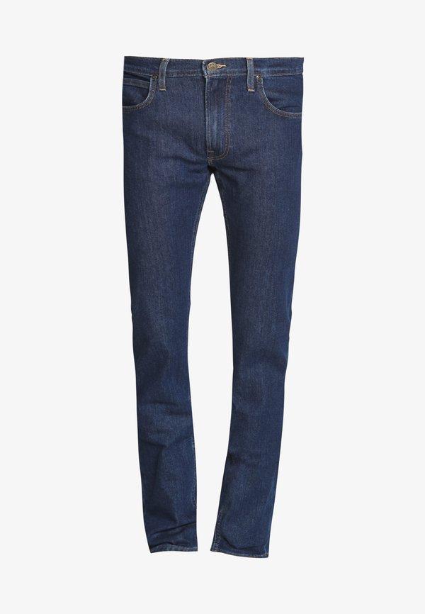 Lee DAREN ZIP FLY - Jeansy Straight Leg - dark stonewash/ciemnoniebieski Odzież Męska CNQH