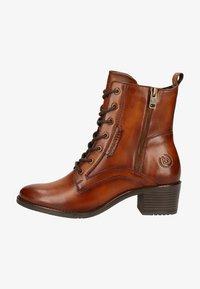 Bugatti - Lace-up ankle boots - cognac - 0