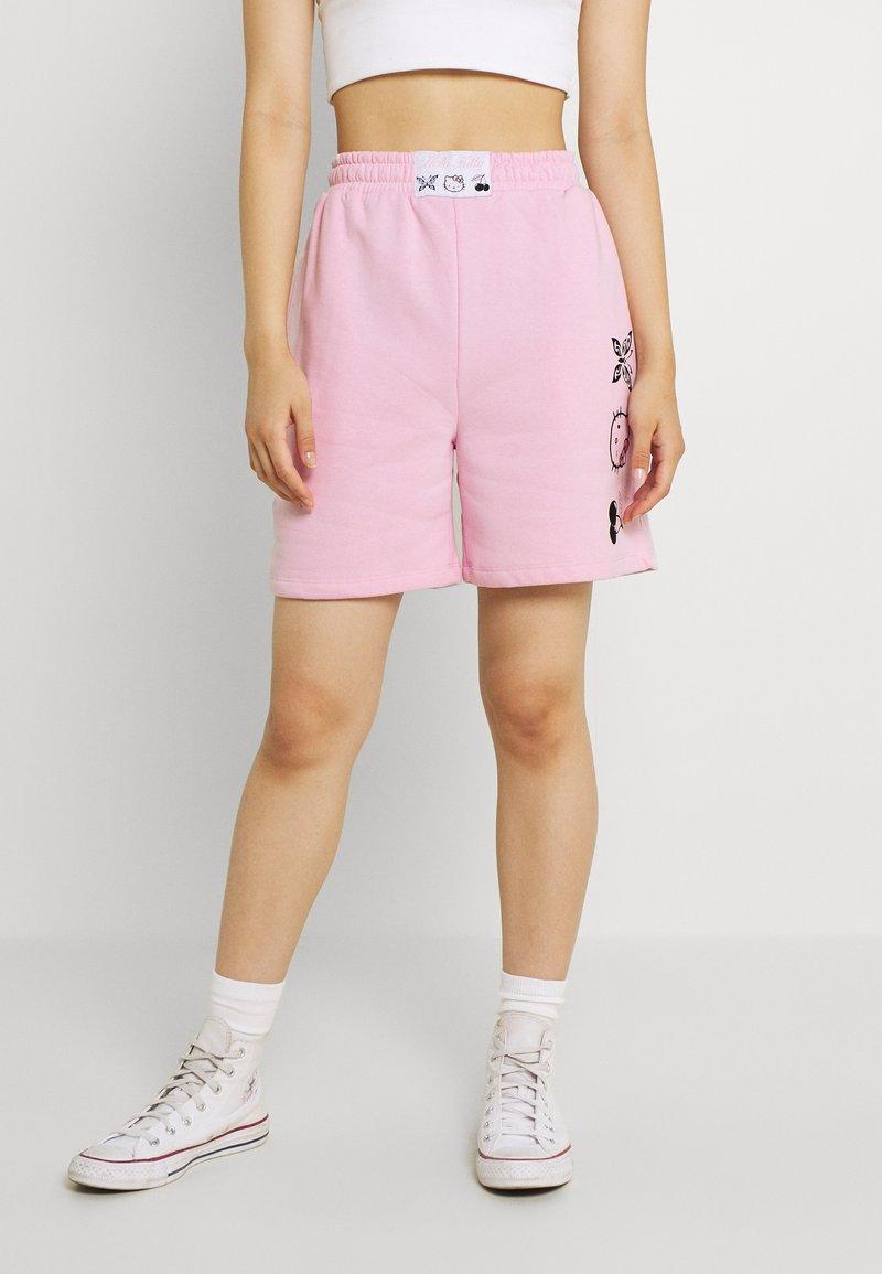 NEW girl ORDER - SLOGAN - Shorts - pink