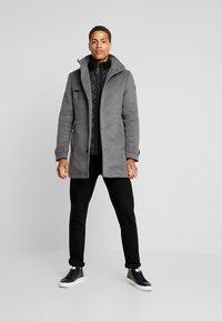 TOM TAILOR - COAT 2 IN 1 - Classic coat - mid grey - 1