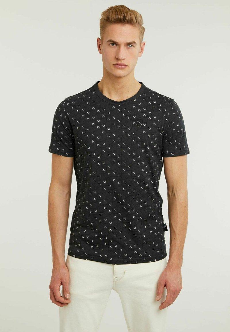 CHASIN' - MONO - Print T-shirt - black
