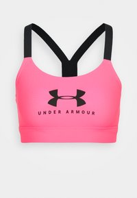 Under Armour - MID SPORTSTYLE GRAPHIC  - Sport-bh met medium support - cerise - 3