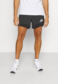 Nike Performance - TRAIL - Shorts outdoor - black/dark smoke grey/white - 0