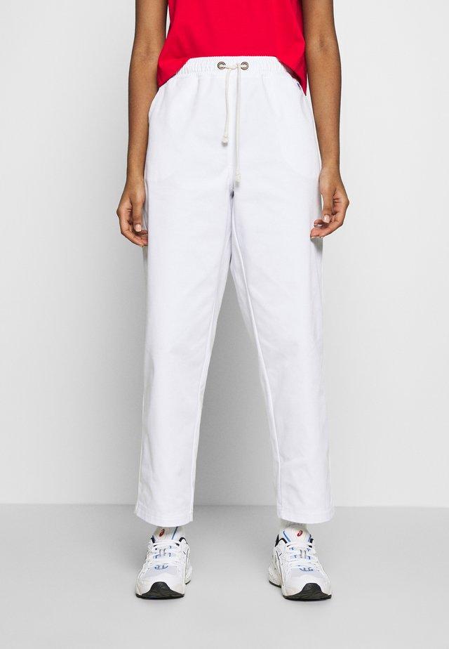 LONG PANTS - Trousers - white