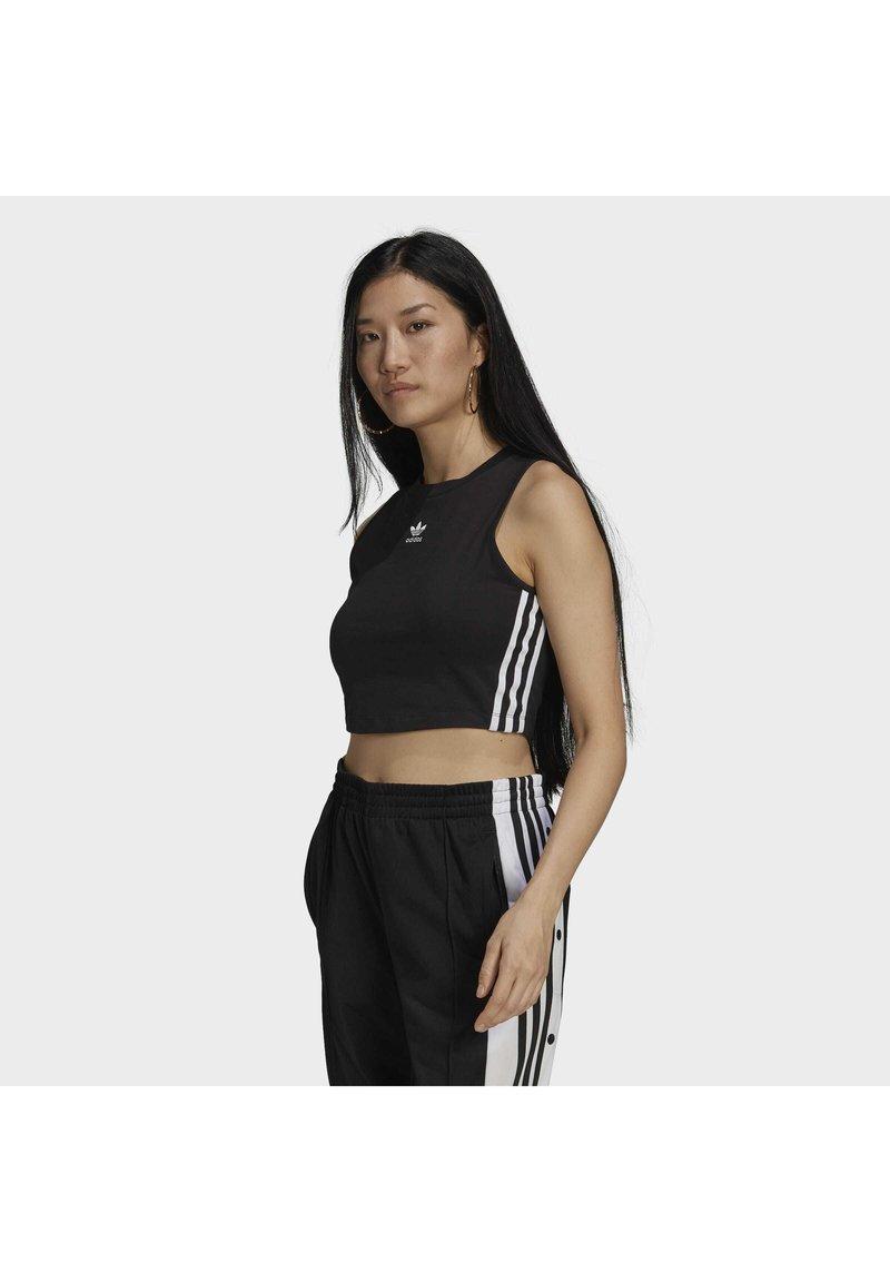 adidas Originals - ADICOLOR FITTED - Top - black