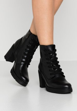 BOOTS - Platform ankle boots - black antic