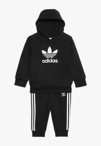 adidas Originals - TREFOIL HOODIE SET UNISEX - Dres - black/white - 0