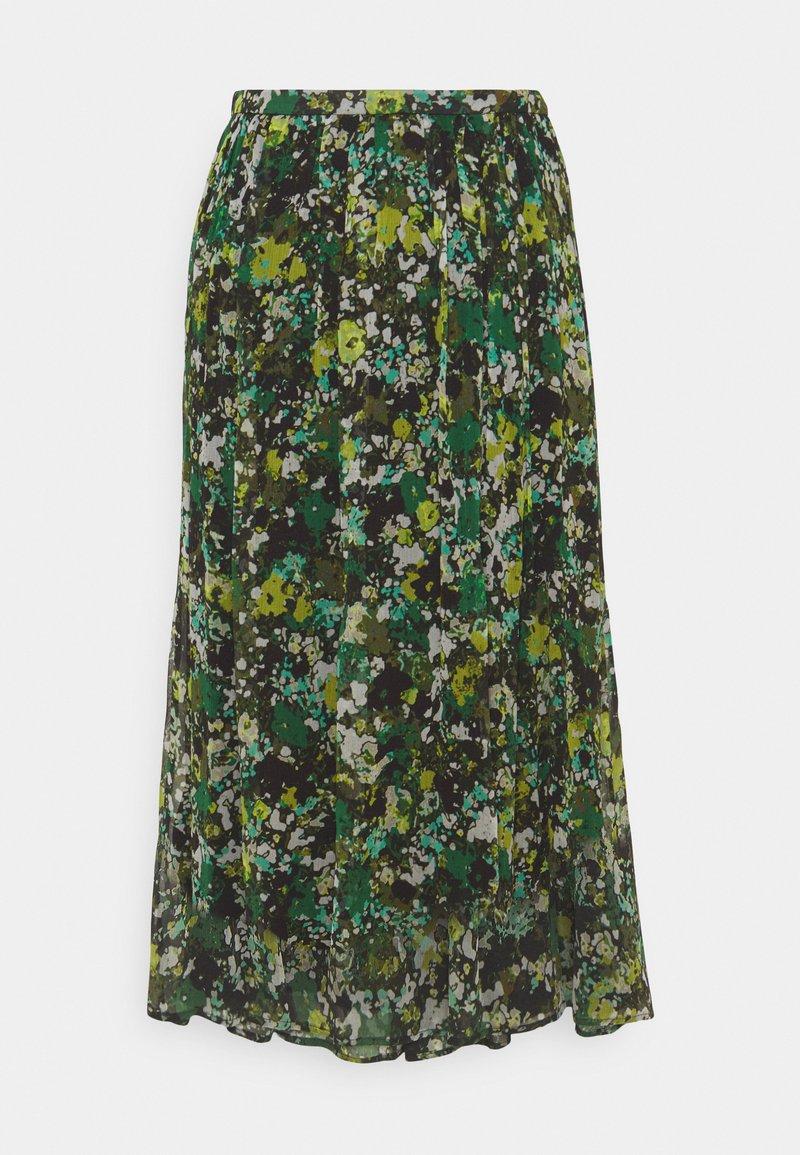 Marc O'Polo PURE - MIDI SKIRT - A-line skirt - green