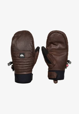 NATURAL - Gloves - bronze brown