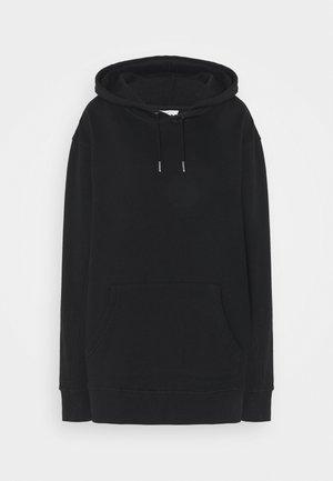 OVERLOCK HOODIE - Sweatshirt - black