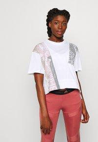 adidas by Stella McCartney - GRAPHIC TEE - Print T-shirt - white - 0