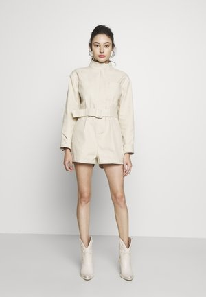 UTILITY STYLE BELTED PLAYSUIT - Overall / Jumpsuit /Buksedragter - beige