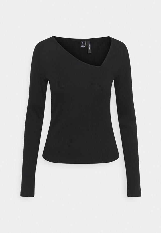 VMJANET ASSYM - Long sleeved top - black