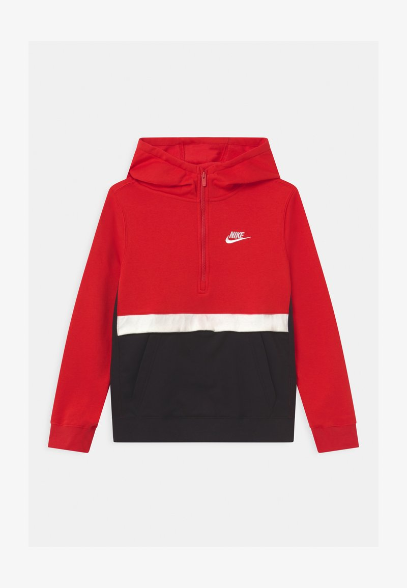 Nike Sportswear - CLUB - Hoodie - university red/black/white