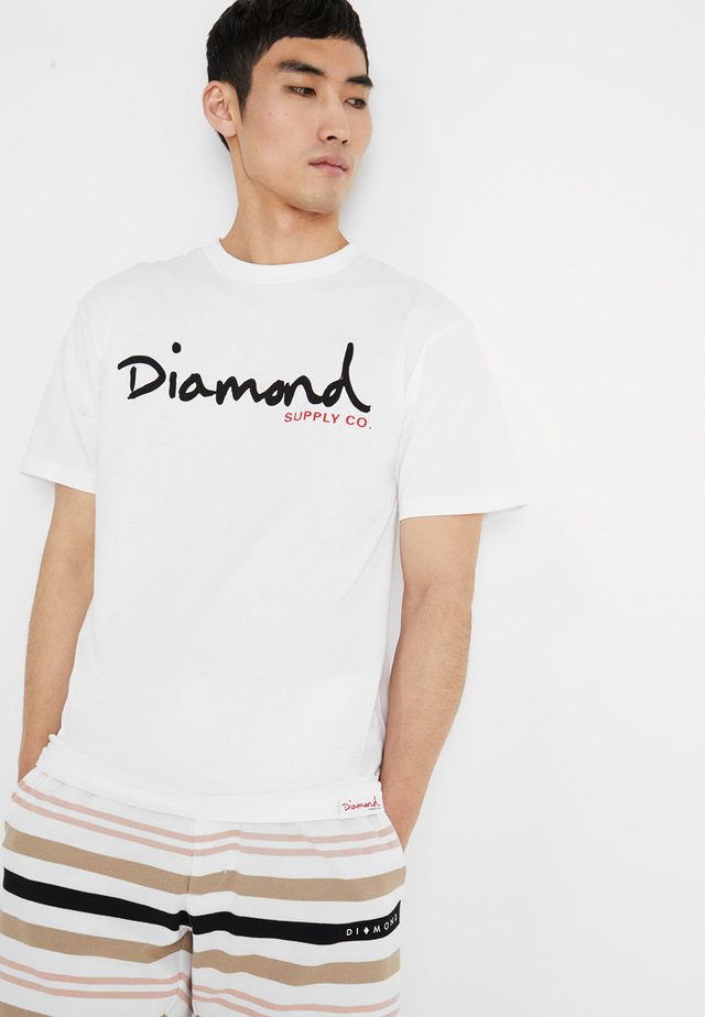 SCRIPT TEE - T-shirt con stampa - white