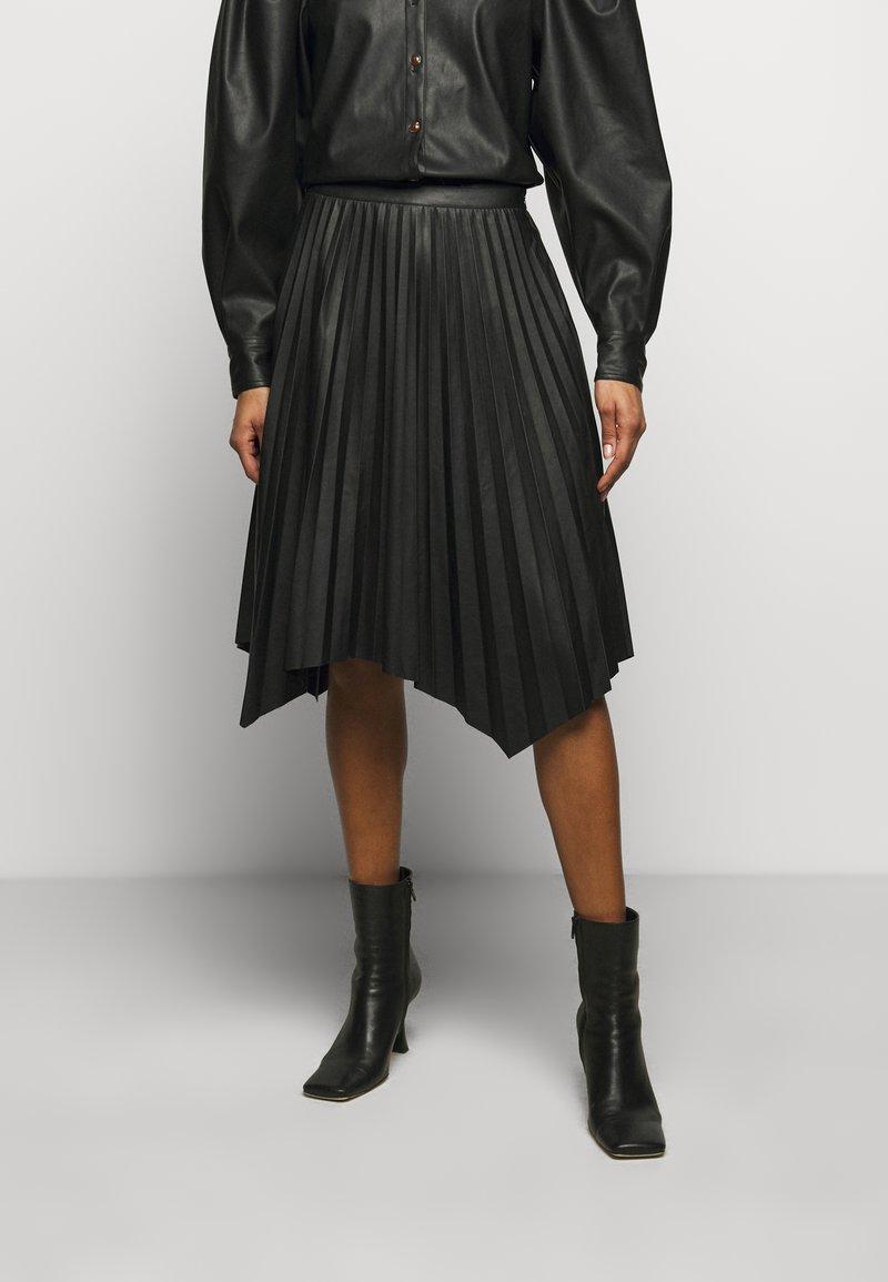 DESIGNERS REMIX - MARIE PLEATED SKIRT - Jupe plissée - black