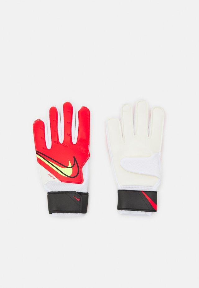GOALKEEPER MATCH UNISEX - Goalkeeping gloves - bright crimson/black/volt