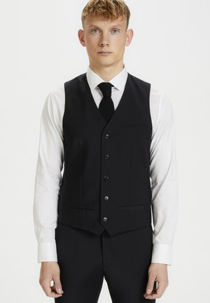 BRECK STRETCH - Suit waistcoat - black