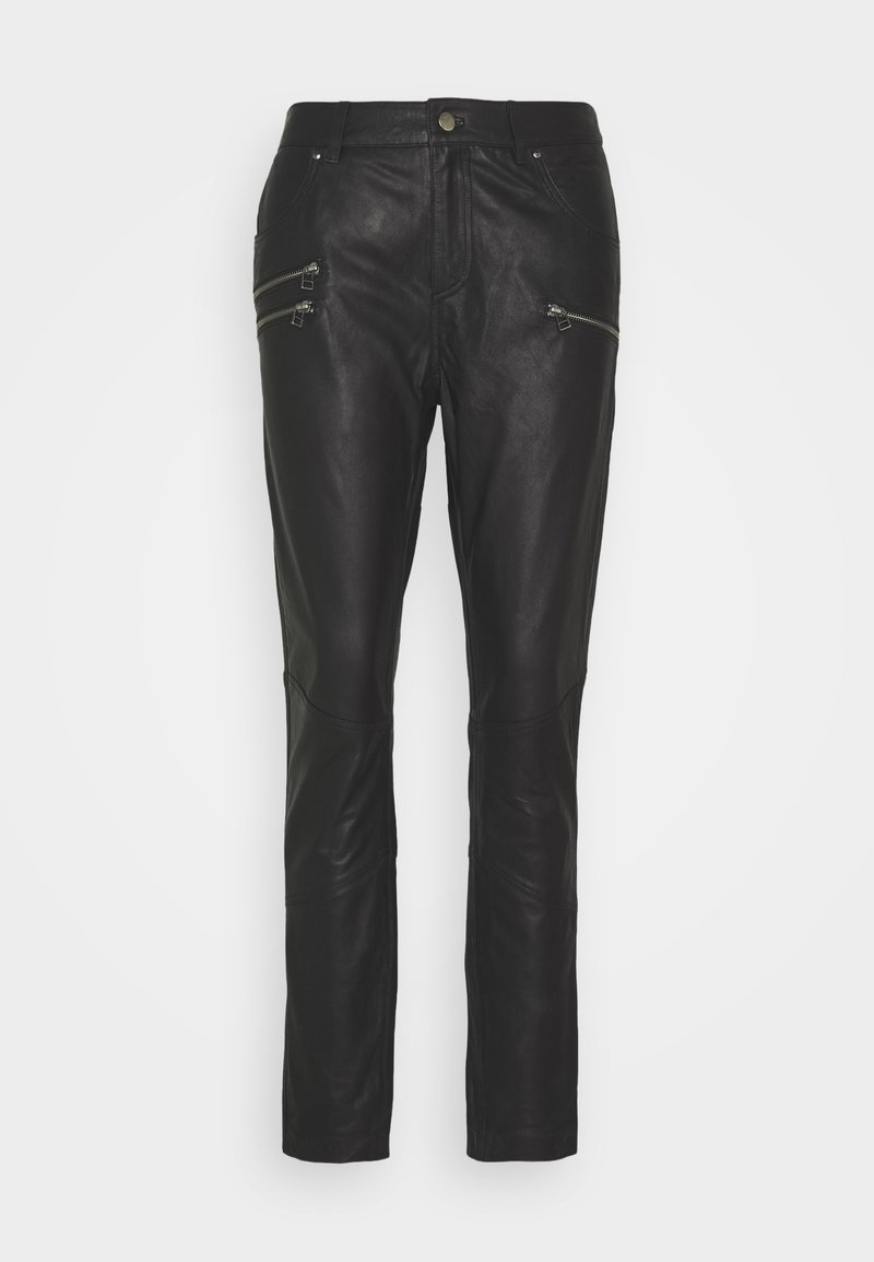 Culture - ANGELIA PANTS - Kožené kalhoty - black