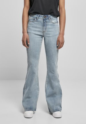 DAMEN HIGH WAIST  - Flared Jeans - tinted light blue washed