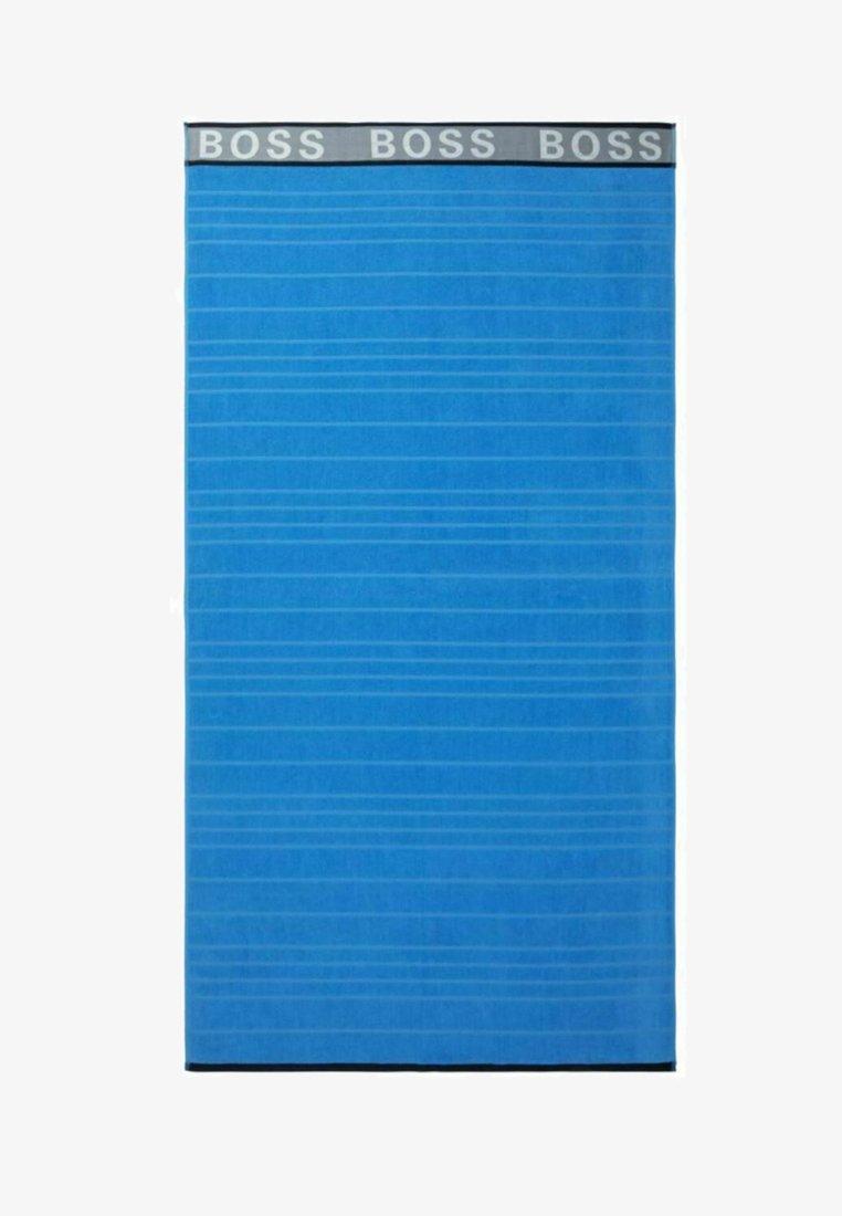 BOSS - STRANDTUCH STRIPED LOGO - Plážová osuška - blue