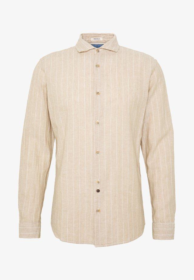 JORDONNY SLIM - Shirt - beige