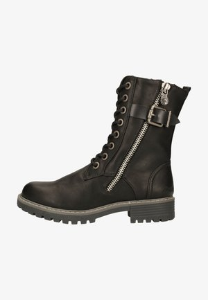 Lace-up ankle boots - black local sheriff/dyecut