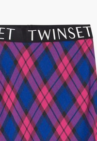 TWINSET - LUNGUETTE IN TESSUTO CHECK - Áčková sukně - pink - 2