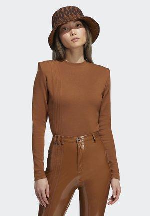IVY PARK 3-STRIPES BODYSUIT - Long sleeved top - wild brown