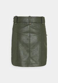 Topshop - HARDWEAR ZIP BIKER SKIRT - Áčková sukně - olive - 1