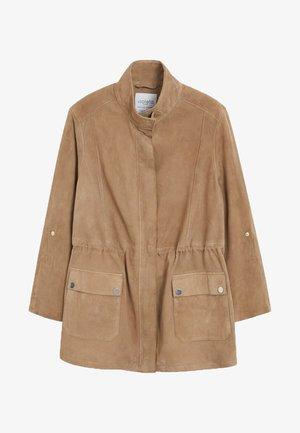 PATY - Leather jacket - beige