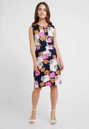 PORTFOLIO DRESS - Shift dress - navy/petunia