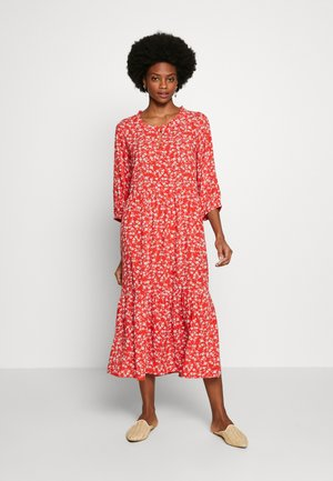 DAISYCR FLOUNCE DRESS - Day dress - aurora red