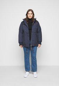 Ragwear Plus - DANKA DOTS - Zimní kabát - navy - 1