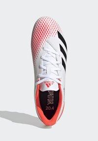 adidas Performance - PREDATOR 20.4 FXG - Moulded stud football boots - ftwwht/cblack/pop - 0