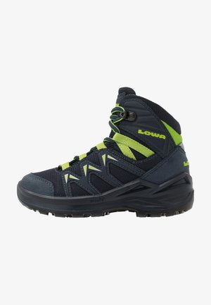 INNOX PRO GTX MID JUNIOR UNISEX - Hiking shoes - stahlblau/limone