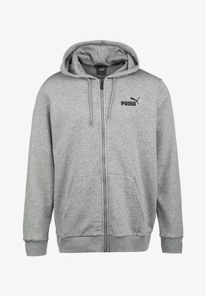 Huvtröja med dragkedja - medium gray heather / cat