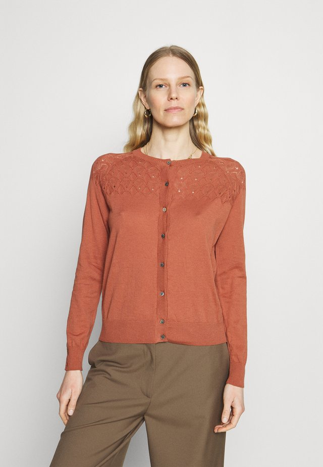 ESSENTIAL - Cardigan - copper brown