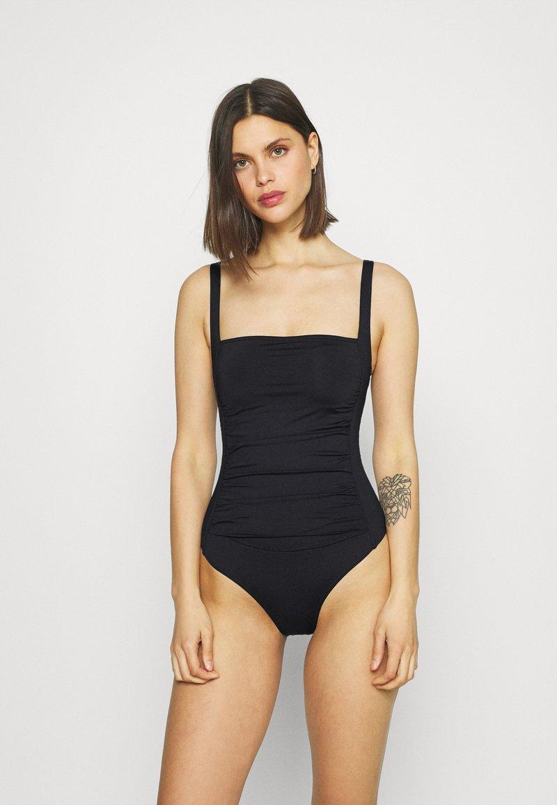 Marks & Spencer London - SQUARE NECK SWIM - Swimsuit - black