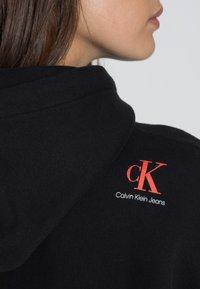Calvin Klein Jeans - OVERSIZED HOODIE DRESS - Day dress - black - 4